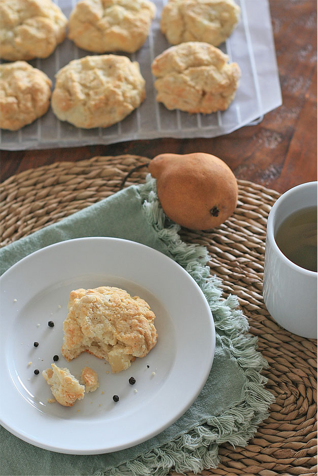 Peppered Pear and Goat Cheese Scones | Girl Cooks World