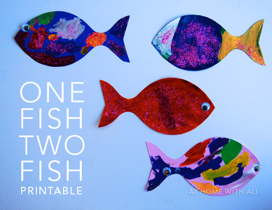 At Home With Ali One Fish Two Fish Printable