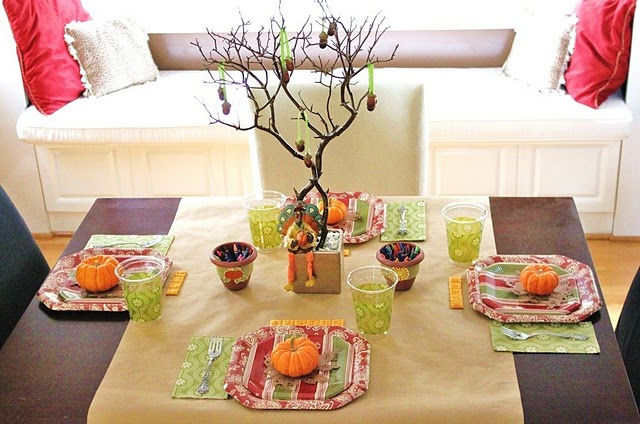 Thanksgiving table ideas for kids