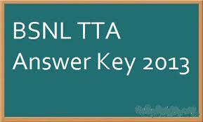 bsnl TTA answer key