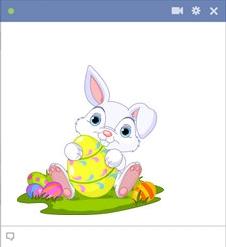 Easter Bunny Hugging An Egg