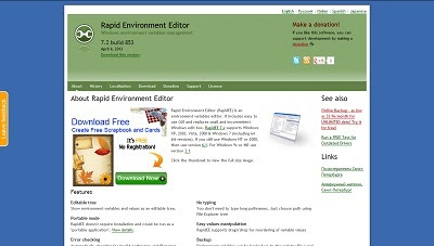 Rapid Environment Editor, Cleaning and Tweaking