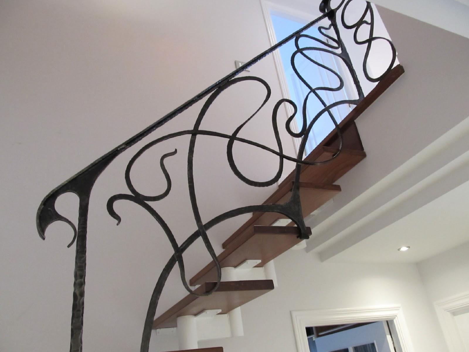 Barandilla de forja modernista - Barandillas de forja para escaleras de interior ...