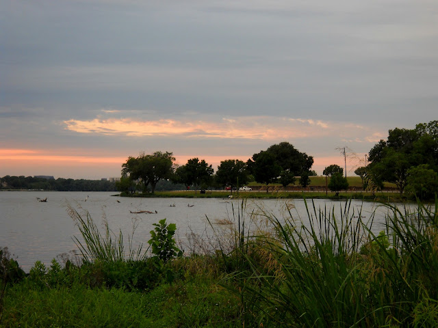 Sunset Bay, White Rock Lake as the sun begins to set for the night