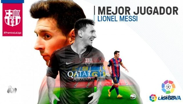 Lionel Messi regained the title Mejor Jugador LFP