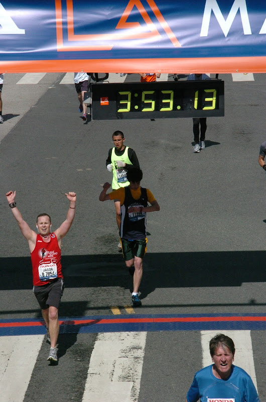 LA Marathon 2012 finish