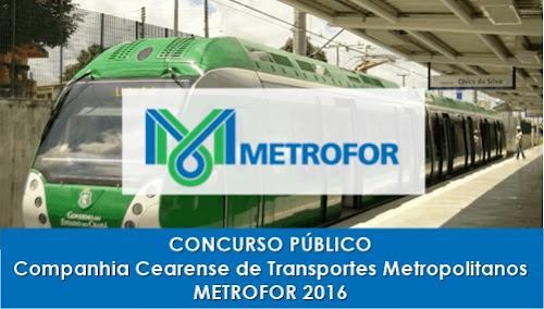 Apostila Concurso Metrofor Ceará 2016