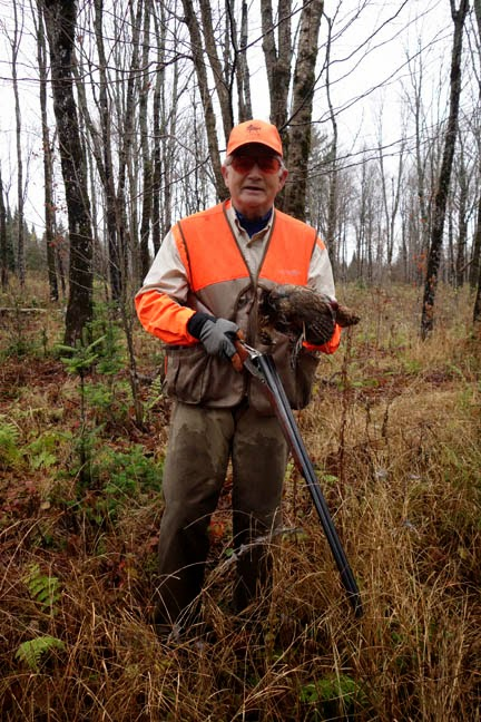 Peter Corbin with a hard earned grouse...