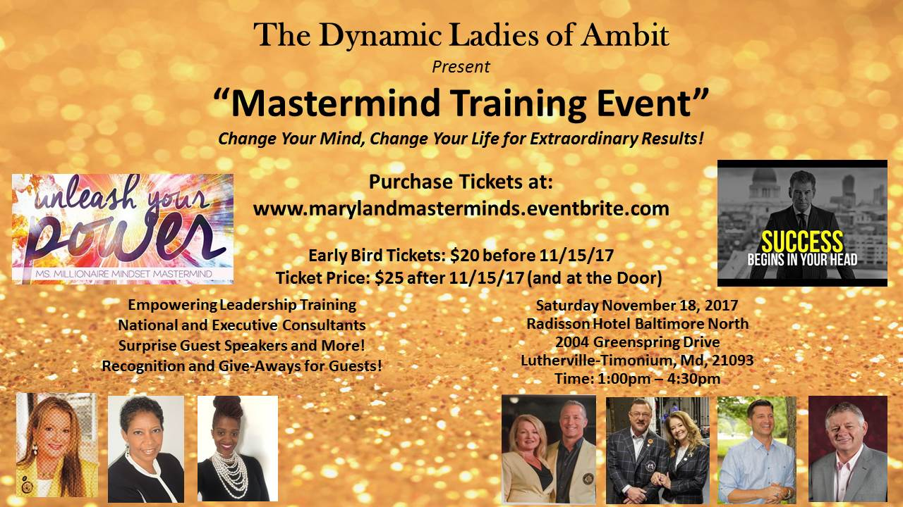 Get Your Tickets for the Next Training Event!!