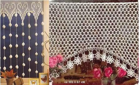 soranyi crochet: Cortinas a crochet algunas con patron