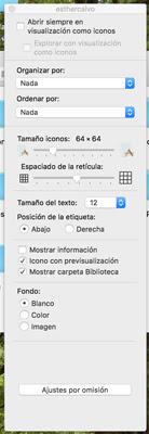 Mostrar carpeta libreria Mac