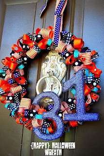 (Happy) Halloween Wreath by Tatertots and Jello.