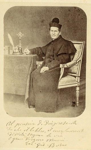 San Juan Bosco fundador de los Salesianos y fervoroso devoto de María Auxiliadora