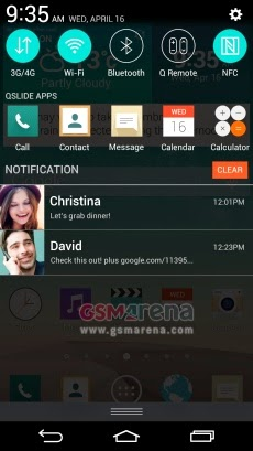 LG G3 screenshots showing new UI and confirms QHD display