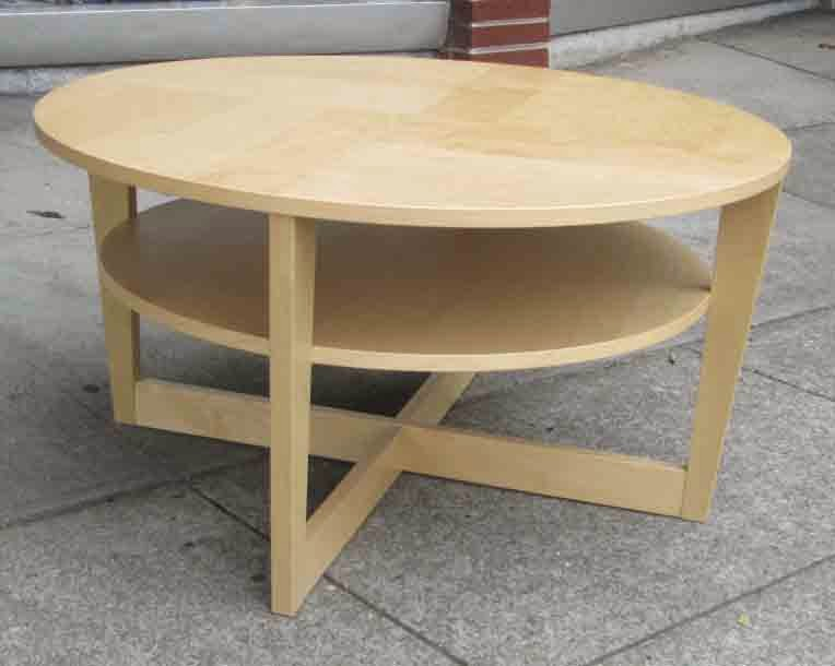 Uhuru Furniture Collectibles Sold Round Bi Level Coffee Table 40