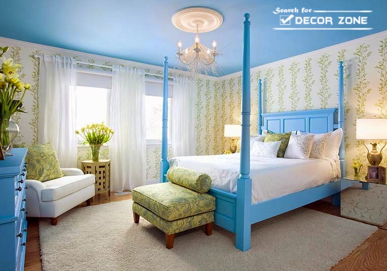 20 blue bedroom ideas and designs for inspiration - Blue bedroom wallpaper ideas ...