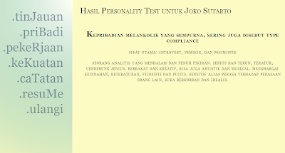 Hasil Personality Test