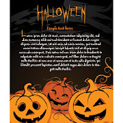34. Free vector of happy halloween template with scary text