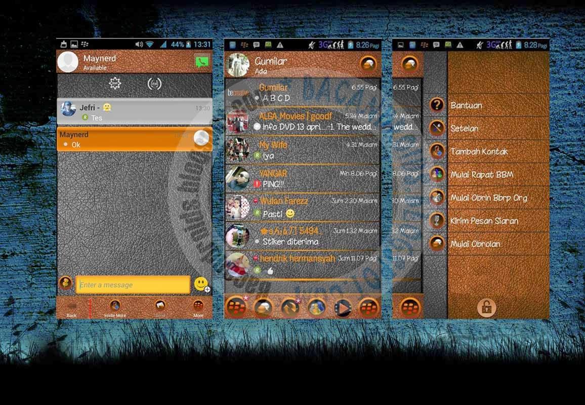 Download BBM Mod Thema Dark Inferno New 2.7.0.23
