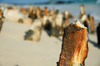 Rusty Barge Remains on Bachas Beach