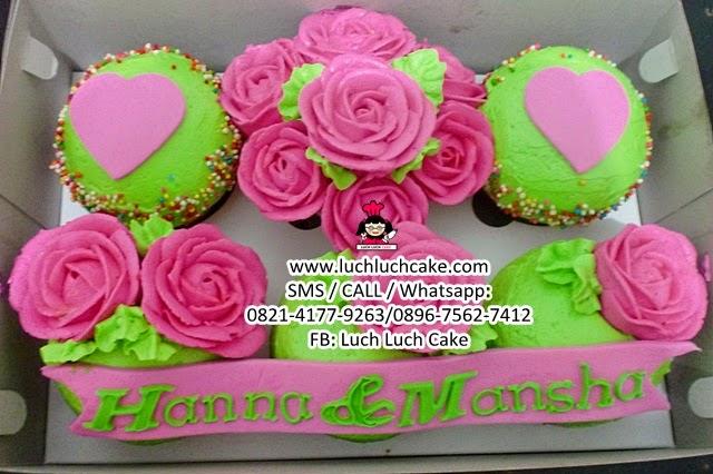 Cupcake Mawar Buttercream Daerah Surabaya - Sidoarjo