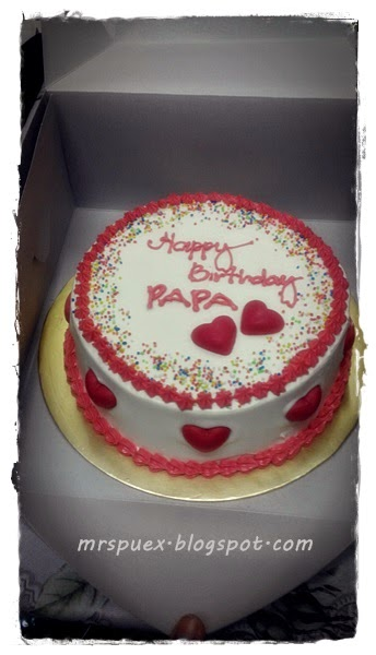 Surprise kek untuk birthday papa