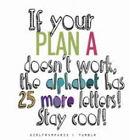 If your plan A doesn't work, the alphabet has 25 more letters. Stay cool