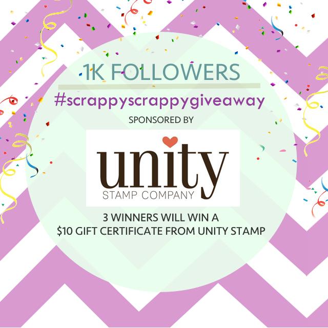 ScrappyScrappy 1K Instagram Giveaway! #scrappyscrappy #instagiveaway #giveaway #prize