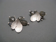 Snow petal and cluster earrings, silver & labradorites £68