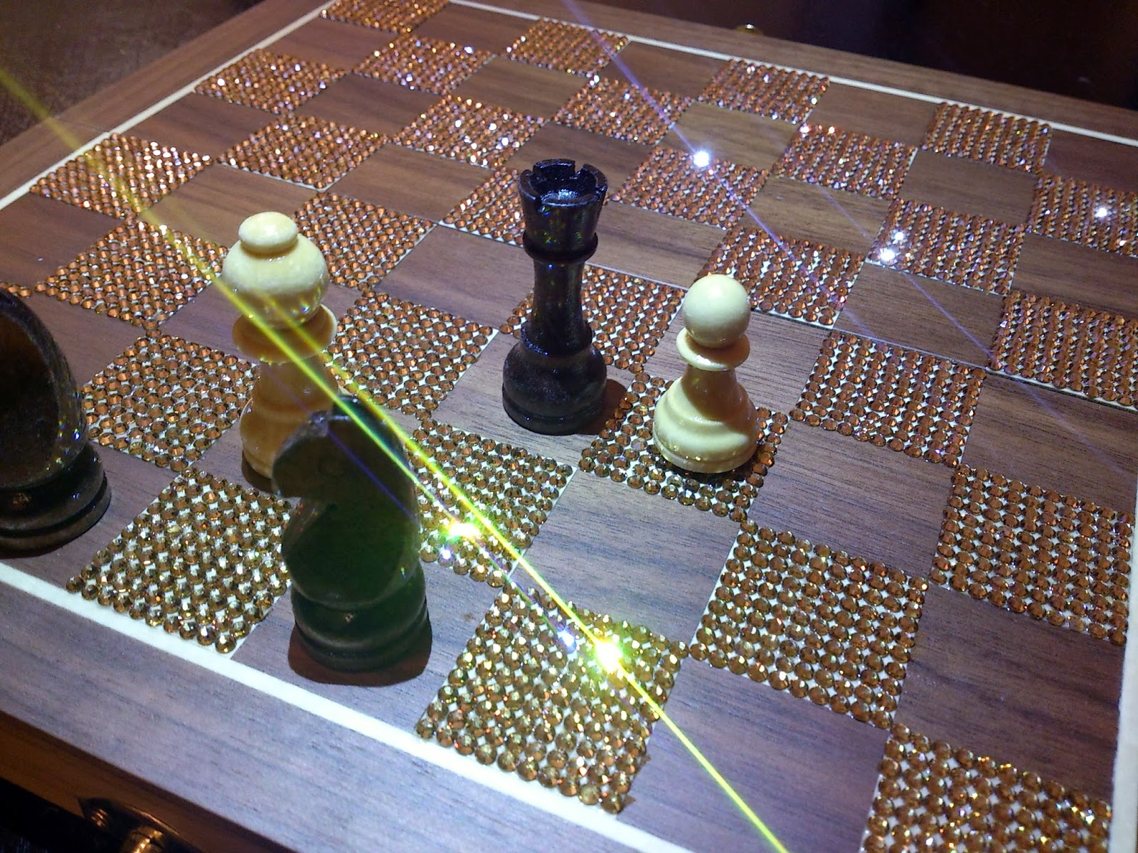 Rhinestone Chessboard Bling Project DIY
