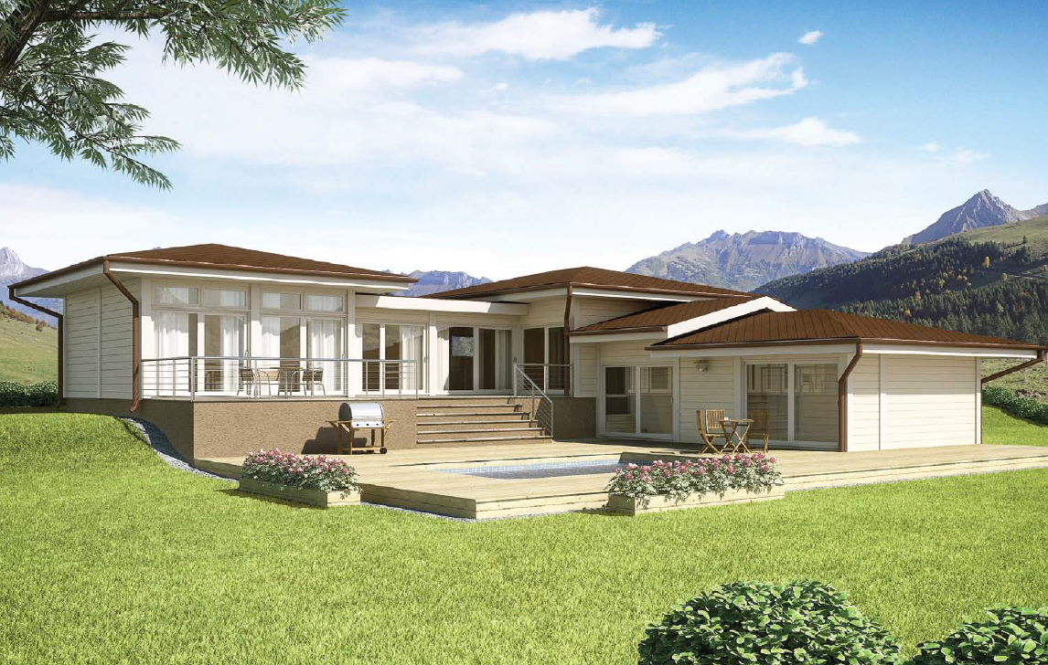 Beautiful and elegant residence timber frame houses for Beautiful a frame homes