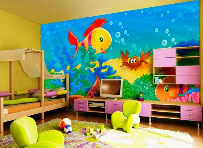 Paint Characters on Wall Wall Painting Ideas For