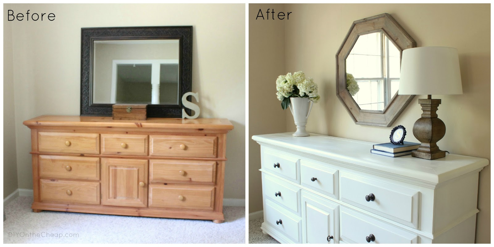 Bedroom dresser makeover erin spain for Headboard and dresser