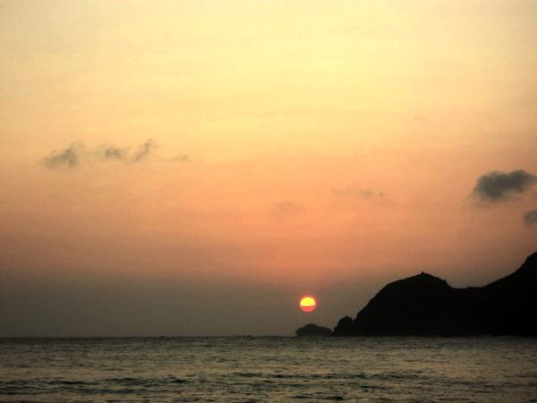 sunset wediombo