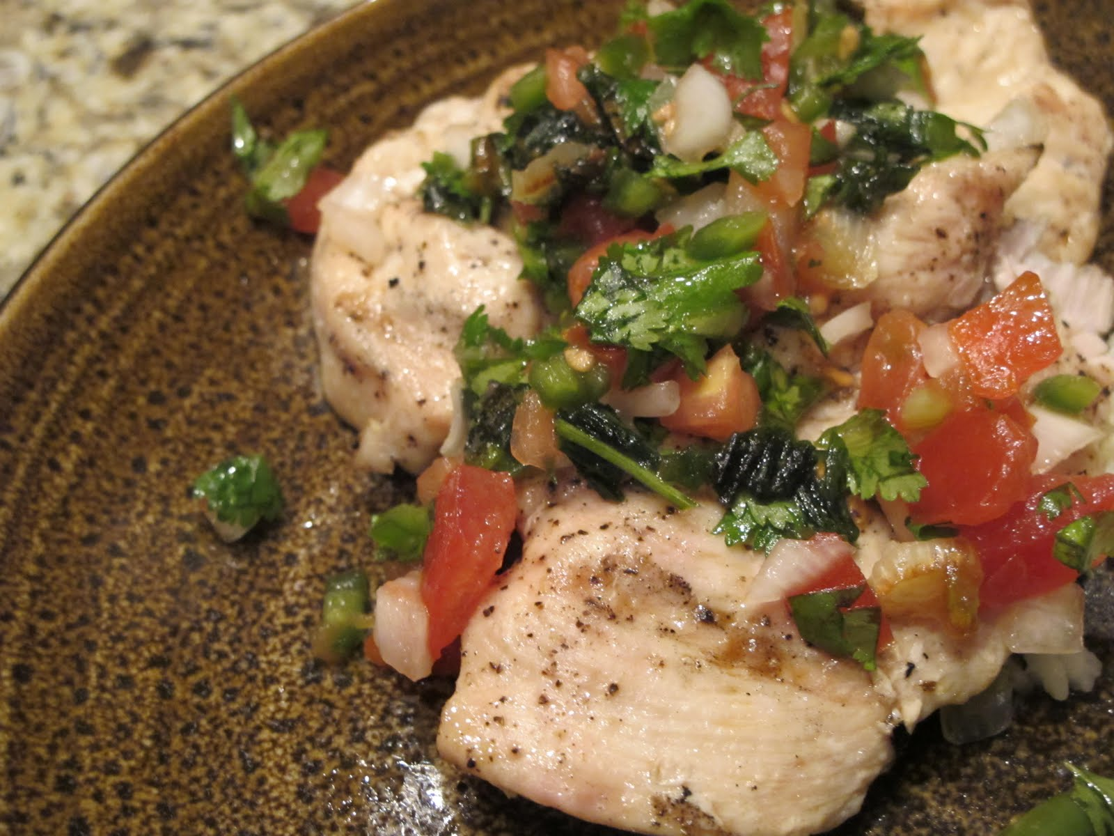 ... : Grilled Chicken Breast with Fresh Jalapeno-Cilantro Tomato Relish