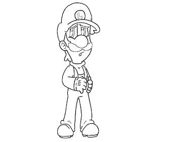 #6 Luigi Coloring Page