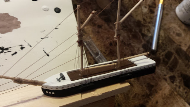 model ship bowsprit