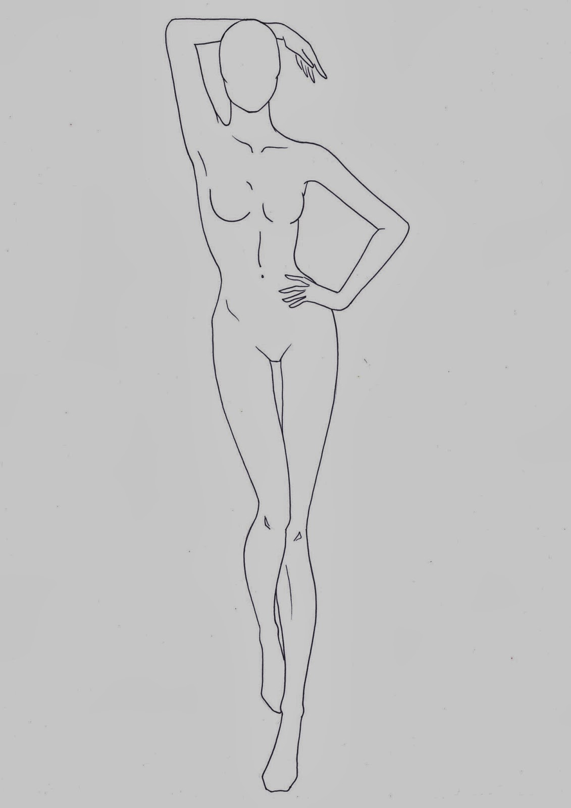 Nice Fashion Figure Template Composition - Examples Professional ...