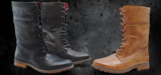 botas estilo militar mujer