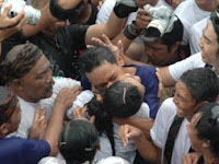 Omed-omedan mass kiss tradition in Bali Indonesia