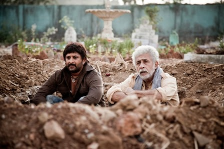 "Arshad Warsi as ""Babban"" and Naseeruddin Shah as ""Khalujan"" in Dedh Ishqiya, Directed by Abhishek Chaubey"
