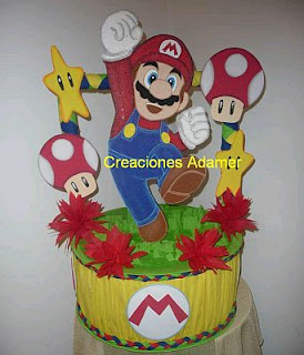Mario Bros, children party centerpieces