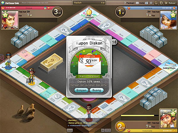 preview modoo marble indonesia 3 Game Terbaru Modoo Marble Mono Poli Indonesia