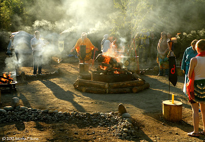 Smoke Fills the Circles. ACoA Summer Solstice Festival 2012.