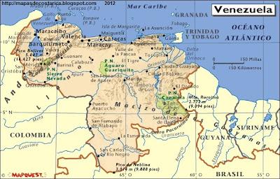 Mapa Fisico de VENEZUELA, Atlas