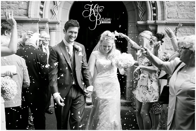 confetti, black and white confetti photo, high house farm brewery, northumberland, high house farm wedding, katie byram photography, healey barn, newcastle wedding photographer, coco luminaire