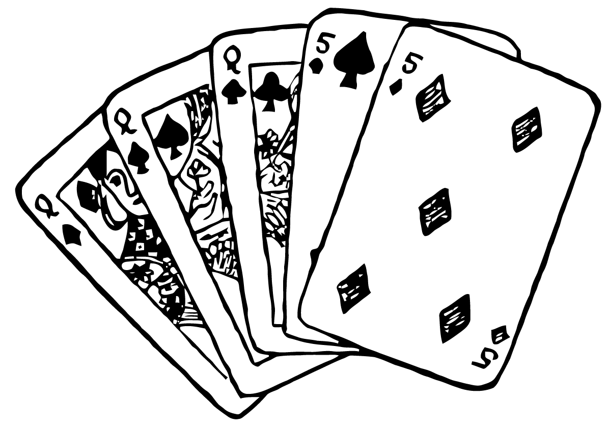 D Line Drawing Game : Ephemeraphilia: free vector art: playing cards