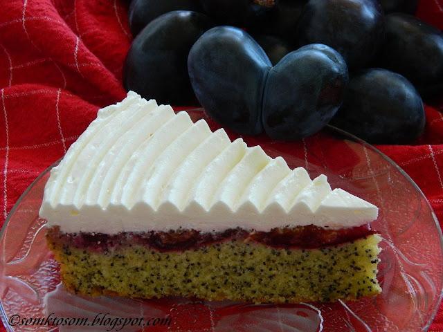 Slivková torta s makom