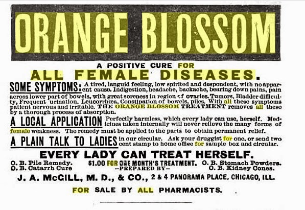 For all Female Diseases, Orange Blossom Ad