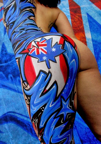 Graffiti Body Painting